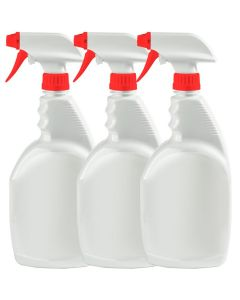 3 pack 32oz Empty Trigger Bottle with High Output Spray Nozzle