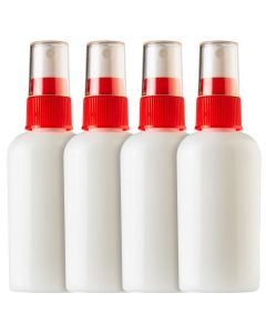 2oz Travel sprayer with clear cap-4 pack