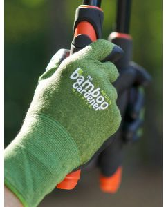 Bamboo Gardener Glove with Nitrile Palm