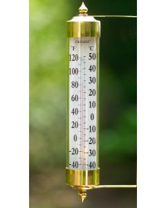 Grande View Brass Tube Thermometer