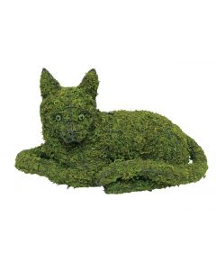 "Cat Lying 10""  Topiary Mossed"