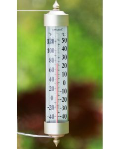Grande View Satin Nickel Thermometer