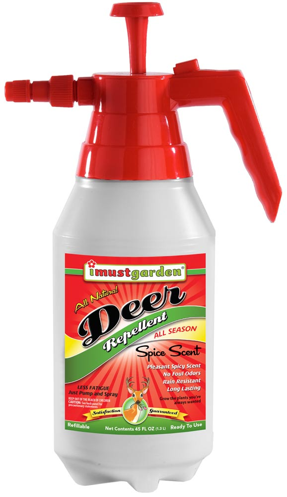 Deer Repellent Spice Scent 45oz Pump Sprayer I Must Garden