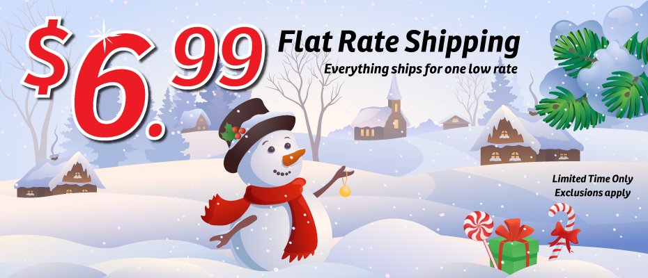 $6.99 Flat Rate Shipping
