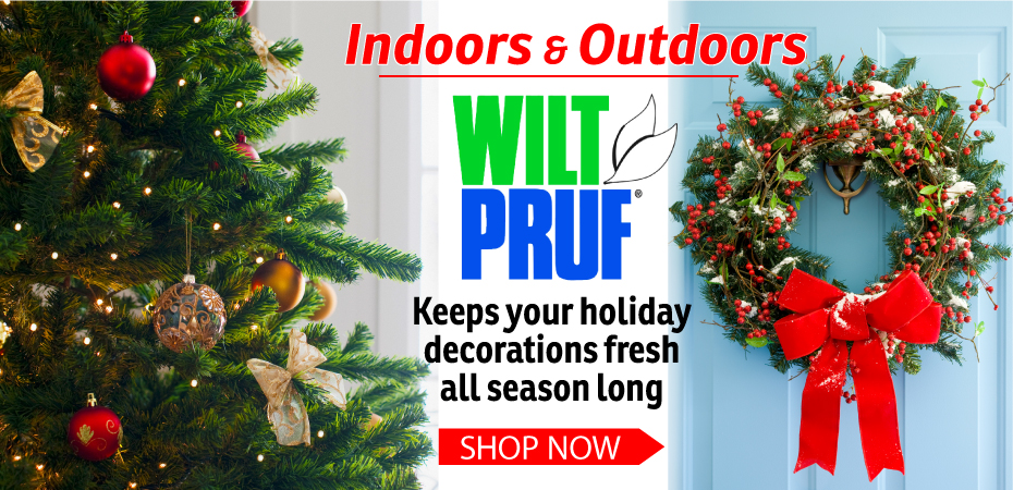 Wilt Pruf protects your holiday decorations